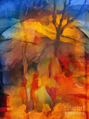 Nature Abstracts Painting - Autumn Colors by Lutz Baar