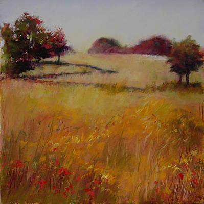 Autumn Field Art Print by Jeanne Rosier Smith