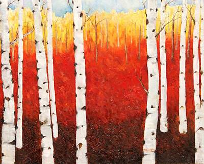 Painting - Autumn Fire by Misuk Jenkins