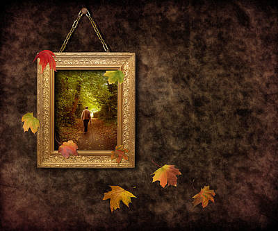 Autumn Frame Art Print by Amanda Elwell