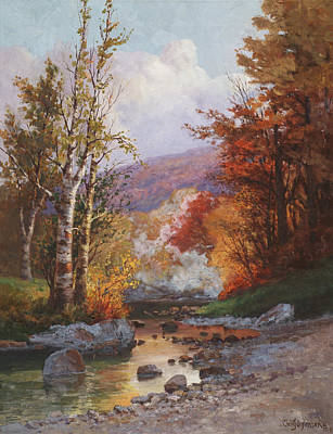 Rivers In The Fall Painting - Autumn In The Berkshires by Christian Jorgensen
