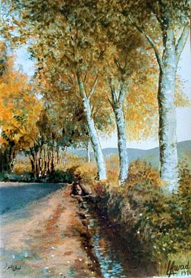 Art Print featuring the painting Autumn Is Coming  by Laila Awad Jamaleldin
