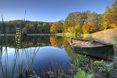 Smokys Photograph - Autumn Lake by Debra and Dave Vanderlaan