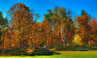 Thomas Kinkade Royalty Free Images - Autumn Landscape Royalty-Free Image by David Patterson