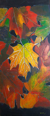 Painting - Autumn Leaves by Richard Le Page