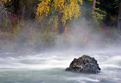 Autumn Mist Art Print by Mike  Dawson