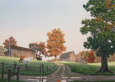 Painting - Autumn Morning by C Robert Follett