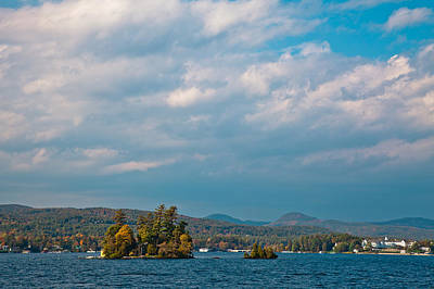 Autumn On Lake George Art Print by David Patterson
