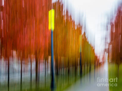 Digital Art - Autumn Park 1 by Susan Cole Kelly Impressions