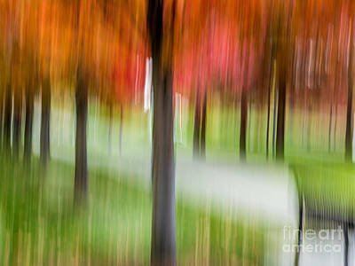 Digital Art - Autumn Park 3 by Susan Cole Kelly Impressions