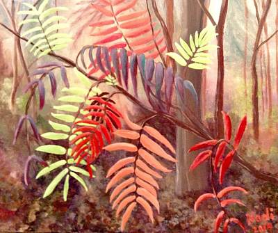 Painting - Autumn Sumacs by Renate Nadi Wesley