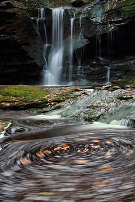 Waterfall Photograph - Autumn Swirls At Elakala Falls In West Virginia by Jetson Nguyen