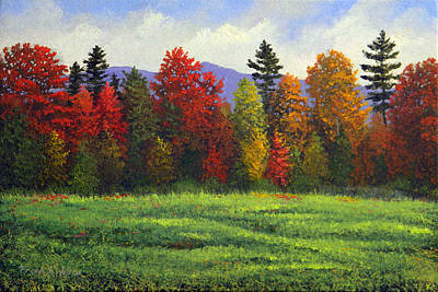 Autumn Scene Painting - Autumn Trees by Frank Wilson