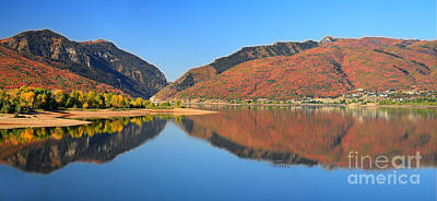 Photograph - Autumn Valley Reflection Pano by Bill Singleton