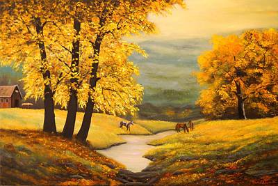 Painting - Autumn's Gold by Connie Tom