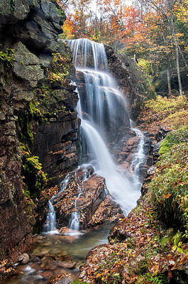 Avalanche Falls - Franconia Notch Art Print by Thomas Schoeller