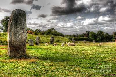 Traci Law Photograph - Avebury Stones by Traci Law