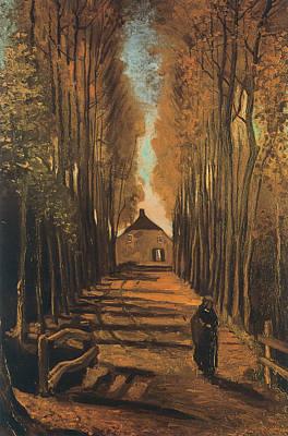 Avenue Of Poplars In Autumn Art Print by Vincent van Gogh