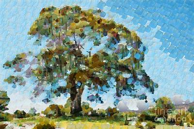 Digital Art - Awesome Gum Tree by Fran Woods