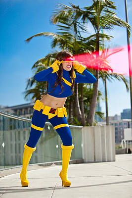 Photograph - Awesome X-man Cyclops by Andreas Schneider