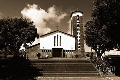 Azorean Church Print by Gaspar Avila