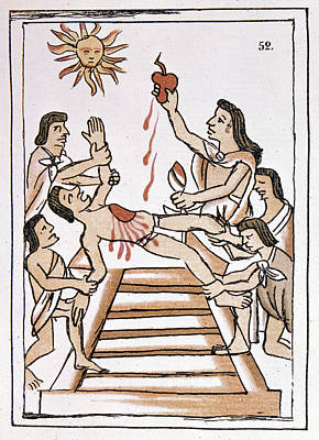 Aztec Ritual Sacrifice Art Print