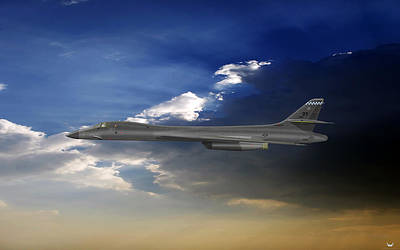 Digital Art - B-1b Lancer by Arthur Eggers