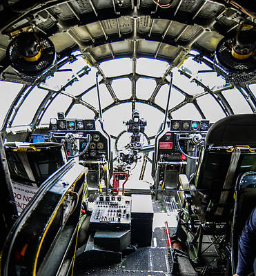 Aviation Photograph - B 29 Superfortress Cockpit  by Puget  Exposure