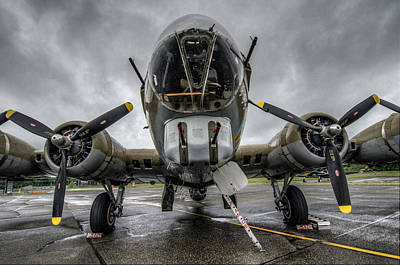 B-17 Photograph - B17 Bomber by Puget  Exposure