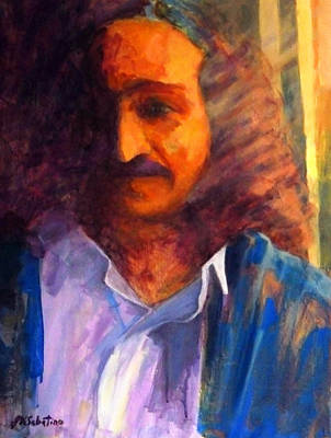 Baba At Window Art Print
