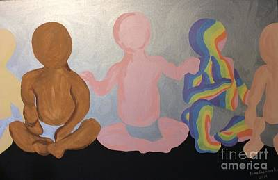 Painting - Babies by Erika Chamberlin