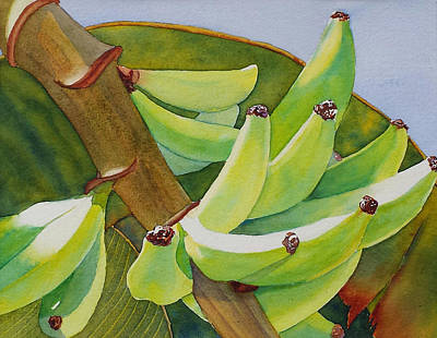 Painting - Baby Bananas by Judy Mercer