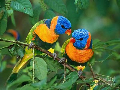 Baby Mixed Media - Baby Birds  by Marvin Blaine