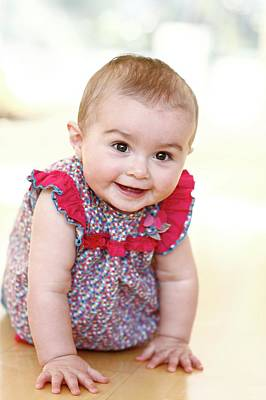 9 Months Photograph - Baby Girl by Ian Hooton