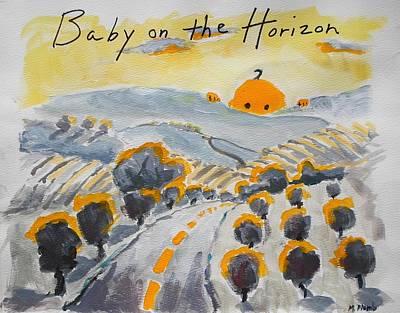 Baby On The Horizon Art Print by Margaret  Plumb