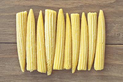 Sweet Corn Farm Photograph - Babycorn by Tom Gowanlock
