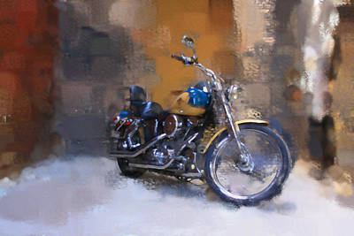 Digital Art - Back Alley Harley by Geoff Strehlow
