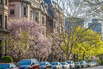 Photograph - Back Bay Brownstones by Susan Cole Kelly