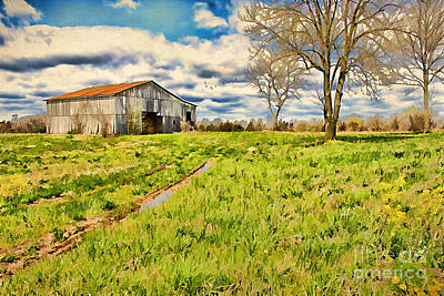 Back Roads Of Kentucky Art Print by Darren Fisher