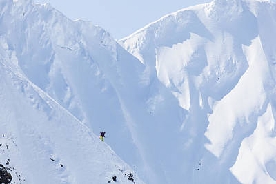 Backcountry Skiing In The Chugach Art Print by Scott Dickerson