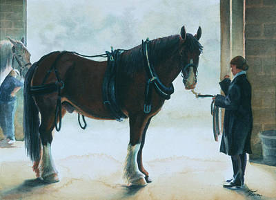 Carriage Driving Painting - Backstage I by Robyn Ryan