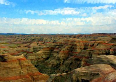 Clous Painting - Badlands South Dakota by Bruce Nutting