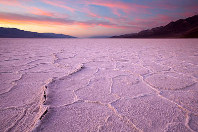 Badwater Salt Flats Art Print by Patrick Downey