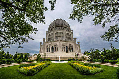 Photograph - Baha'i House Of Worship by Randy Scherkenbach