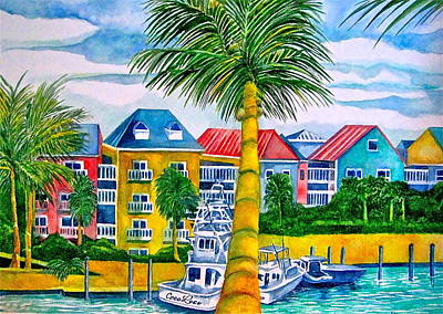 Painting - Bahamian Blues by Kandy Cross