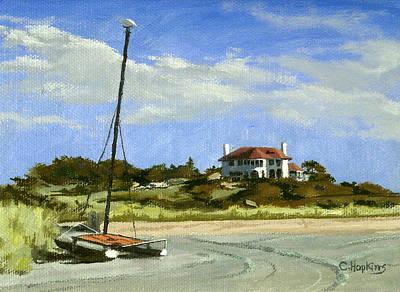 Shell Beach Inn Painting - Bailey's Beach Newport Rhode Island by Christine Hopkins