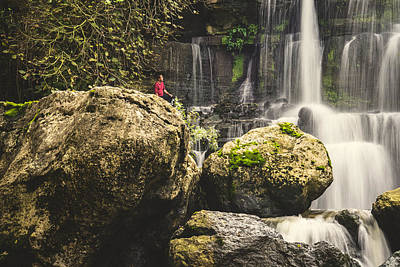 Photograph - Bajouca Waterfall Iv by Marco Oliveira