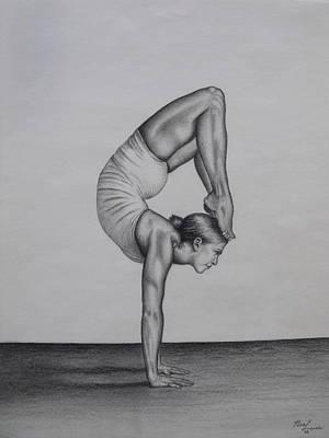Yoga Pose Painting - Balance by Neal Luea