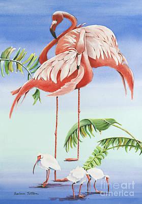 Tangerine Painting - Balancing Act by Barbara Totten