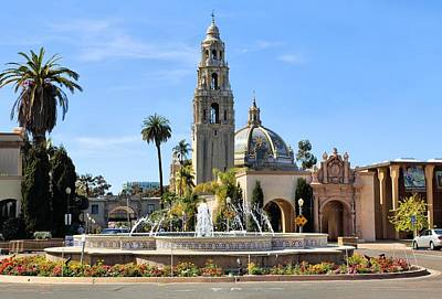 Photograph - Balboa Park Fountain by Jane Girardot